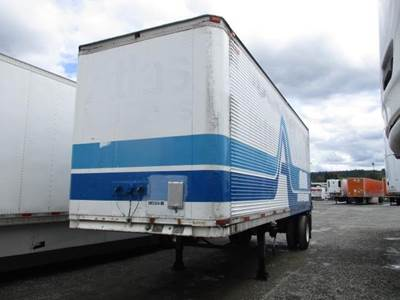 1985 Trailmobile 27 ft Dry Van Trailer - Roll up Door, Air Ride, Liftgate, Single Axle, Fixed Axle