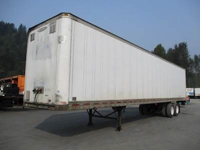 1994 Trailmobile 45 ft Dry Van Trailer - Roll up Door, Spring, Sliding Axle