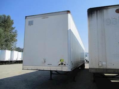2008 Trailmobile 53 ft Dry Van Trailer - Swing Door, Air Ride, Sliding Axle