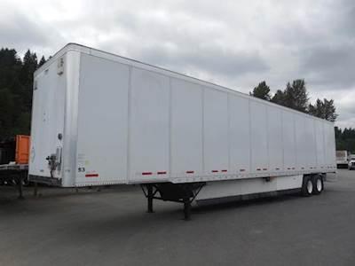 2012 Wabash 53x102 Tandem Axle Combination Dry Van Trailer, Air Ride, Sliding Axle