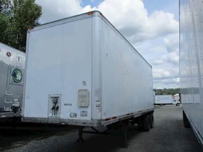 1996 Wabash 28 ft Dry Van Trailer - Swing Door, Spring, Fixed Axle