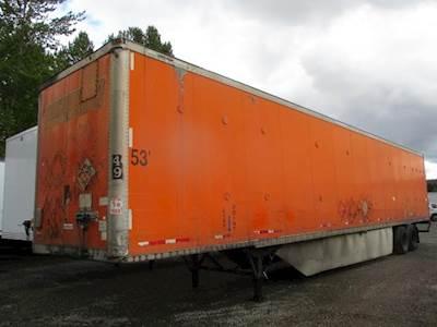 2000 Wabash 53 ft Dry Van Trailer - Swing Door, Spring, Sliding Axle