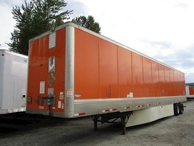 2011 Wabash 53 ft Dry Van Trailer - Swing Door, Spring, Sliding Axle