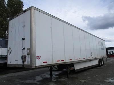 2008 Wabash 53 ft Dry Van Trailer - Swing Door, Spring, Sliding Axle
