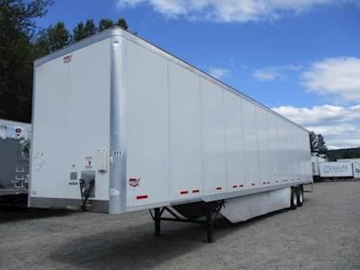 2012 Wabash 53 ft Dry Van Trailer - Swing Door, Spring, Sliding Axle