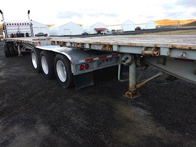 1990 Alloy Trailers 30x96 Quad Axle Combination Flatbed Trailer, Spring, Fixed Axle