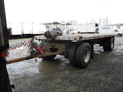 2006 Chaparral 20x102 Tandem Axle Aluminum Flatbed Trailer - Air Ride, Fixed Axle