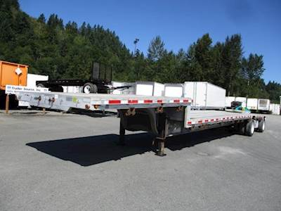 2009 East 48x102 Tandem Axle Aluminum Flatbed Trailer - Air Ride, Spread Axle