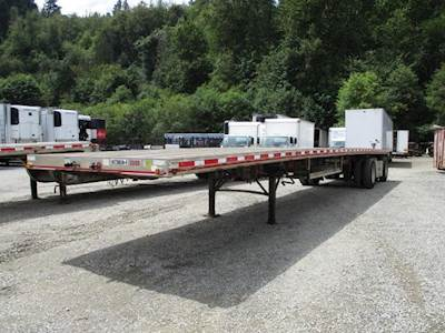 2007 East ALL ALUMINUM 48 X 102 FLATBED WITH FRONT AXLE LIFT Flatbed Trailer