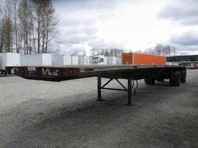 1997 Fontaine 48x96 Combination Flatbed Trailer - Air Ride, Spread Axle