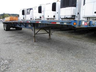 1998 Fontaine 48x96 Tandem Axle Steel Flatbed Trailer, Spring, Fixed Axle
