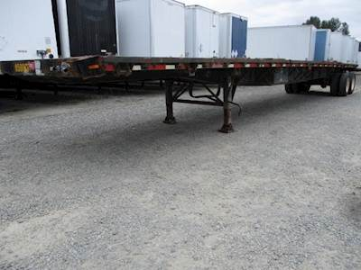 1999 Great Dane 48x102 Tandem Axle Steel Flatbed Trailer - Spring, Sliding Axle