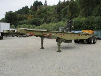 1984 Loadcraft 40x96 Steel Flatbed Trailer - Air Ride, Fixed Axle