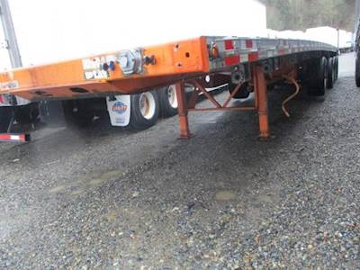 2006 Manac 48x102 Tri Axle Combination Flatbed Trailer - Air Ride, Fixed Axle