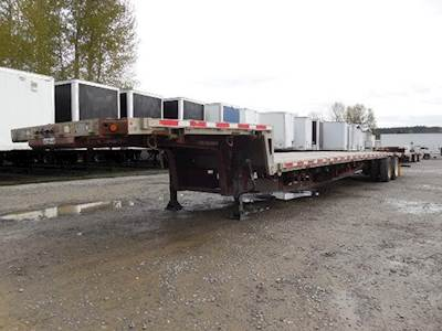 2008 Trail King 53x102 Tandem Axle Combination Flatbed Trailer, Air Ride, Sliding Axle