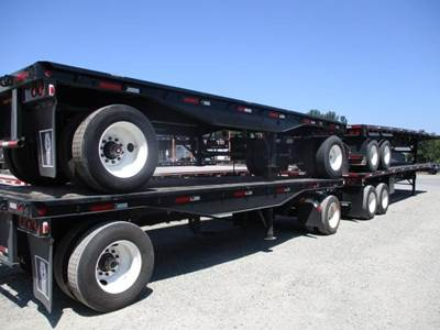 1999 Transcraft 40x96 Combination Flatbed Trailer - Spring, Fixed Axle