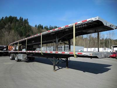 2016 Transcraft 53x102 Combination Flatbed Trailer - Air Ride, Sliding Axle