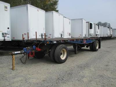 1978 UTILITY 24x96 Steel Flatbed Trailer - Spring, Fixed Axle