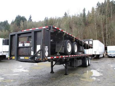 1996 UTILITY 35x96 Tandem Axle Combination Flatbed Trailer - Spring, Fixed Axle