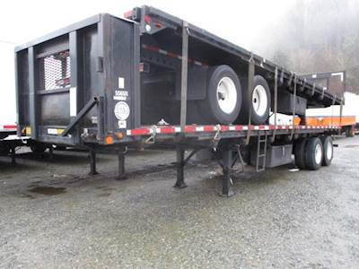 1996 UTILITY 35x96 Tandem Axle Combination Flatbed Trailer - Spring, Sliding Axle