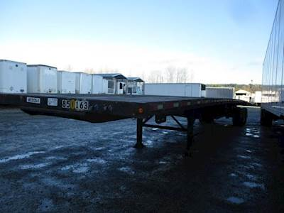 2001 Wabash 48x102 Tandem Axle Steel Flatbed Trailer - Spring, Sliding Axle
