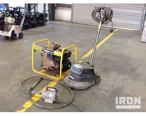 Lot of (1) Concrete Vibrator, (1) Floor Machine & (1) Water Pump