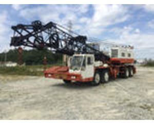 Bucyrus Erie 55-C Lattice-Boom Truck Crane w/1986 Fontaine Flatbed Trailer