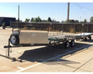 TJ Trailers 4Place T/A Flatbed Trailer