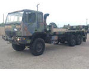 Stewart & Stevenson M1086 MTV 6x6 Cargo Truck w/ Rear Mounted Crane