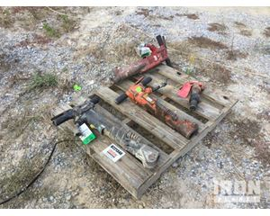 Lot of (3) Pneumatic Breakers & (1) Chipping Hammer
