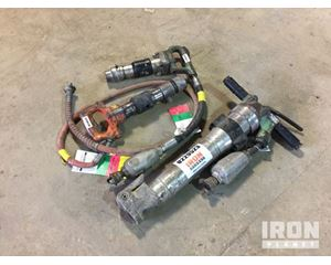 Lot of (2) Chipping Hammers & (1) Pneumatic Breaker