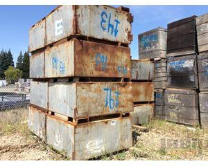 Lot of (11) Steel Bins