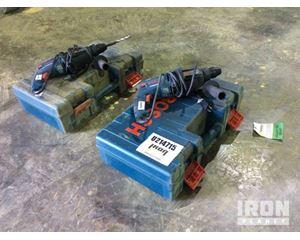Lot of (2) Bosch 1125VSR Rotary Hammers