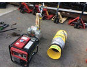 Lot of (1) Floor Sander, (1) Portable Ventilation Fan & (1) Generator