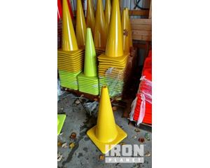 """Lot of (1) 28"""" Yellow Wide Base Traffic Cones"""