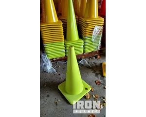 """Lot of (1) 28"""" Lime Green Wide Base Traffic Cones"""