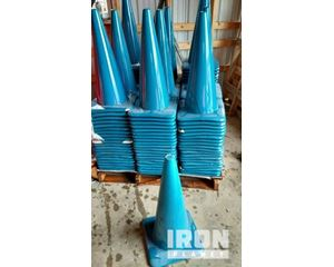 """Lot of (1) 28"""" Blue Wide Base Traffic Cones"""