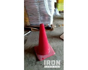 """Lot of (5) 28"""" Red Wide Base Traffic Cones"""