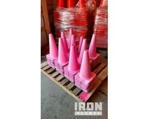 """Lot of (5) 18"""" Pink Traffic Cones"""