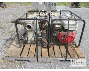 "Lot of (2) Honda WT3X 3"" Water Pumps"