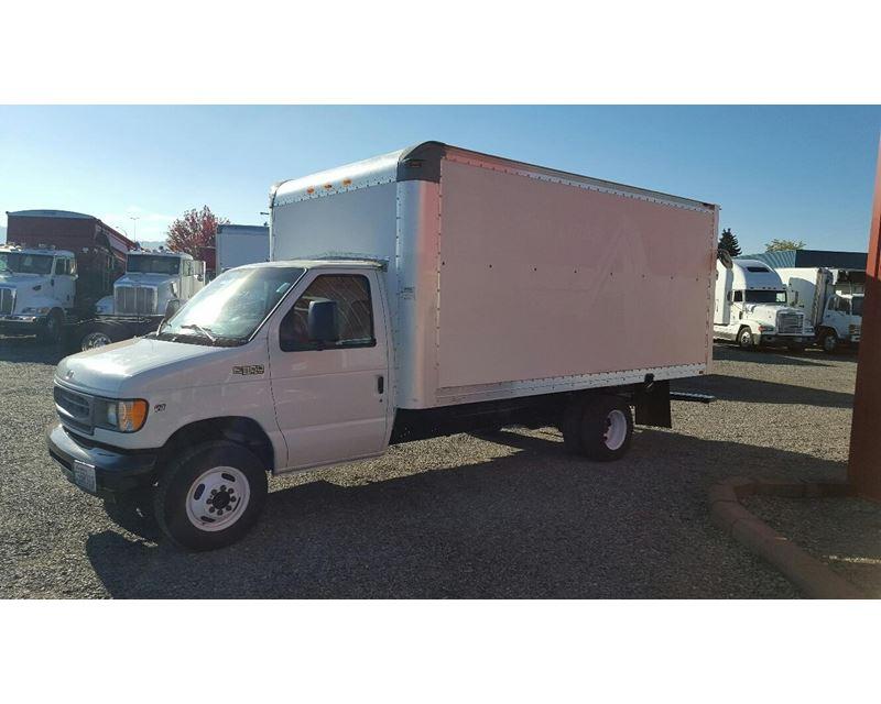 2002 ford e 350 box truck dry van for sale spokane wa. Black Bedroom Furniture Sets. Home Design Ideas