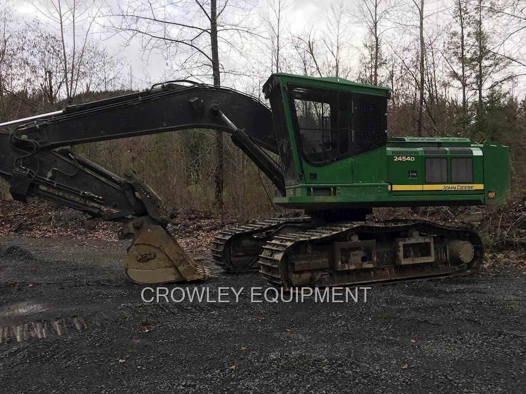 2014 john deere 2454d road builder excavator with bucket for sale
