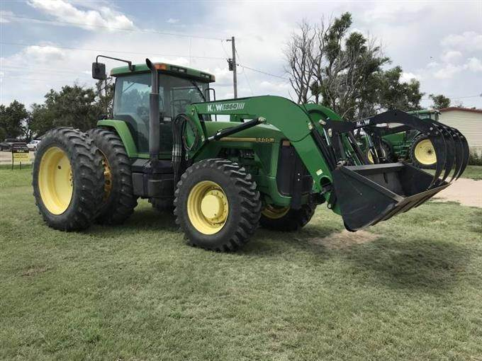 1995 John Deere 8400 MFWD Tractor W/Loader For Sale | Ellis