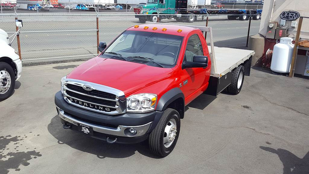 Dodge Ram 5500 >> 2008 Dodge Ram 5500 Flatbed Truck Sterling Bullet 4x4 Dually For Sale 200 853 Miles Benicia Ca 21237 Mylittlesalesman Com
