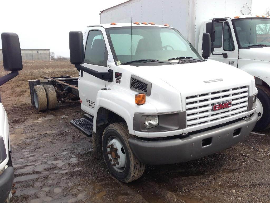 2009 gmc topkick c4500 medium duty cab chassis truck for sale