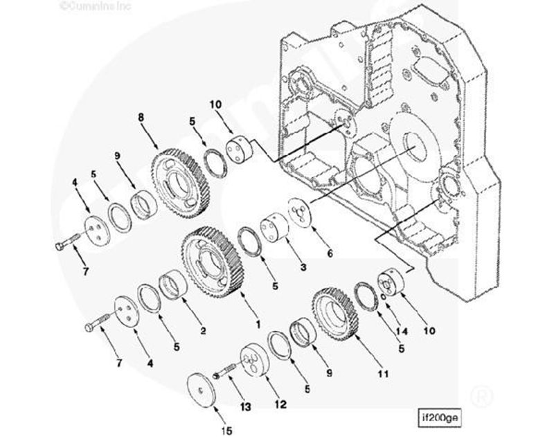 1993 Cummins L10 Engine Gear For Sale