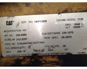 Caterpillar 3126 Engine