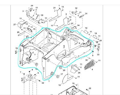 bobcat 863 hydraulic pump diagram 2015 bobcat t870 frame for sale spencer  ia 7193399  2015 bobcat t870 frame for sale