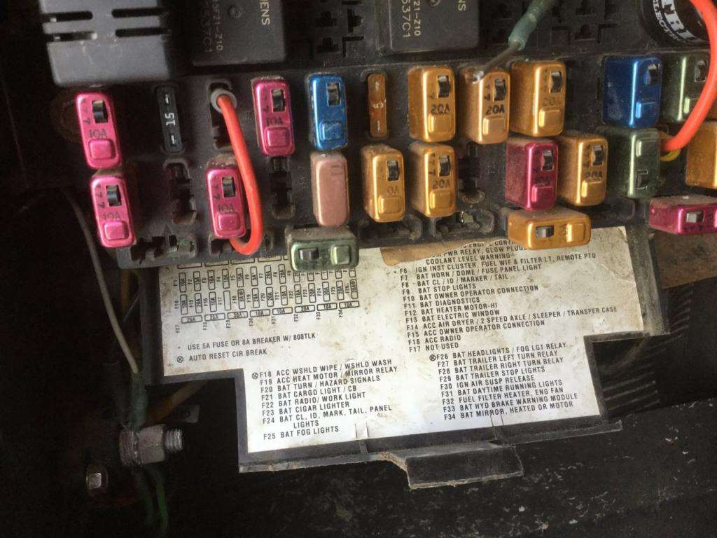 2001 International 4700 Fuse Diagram