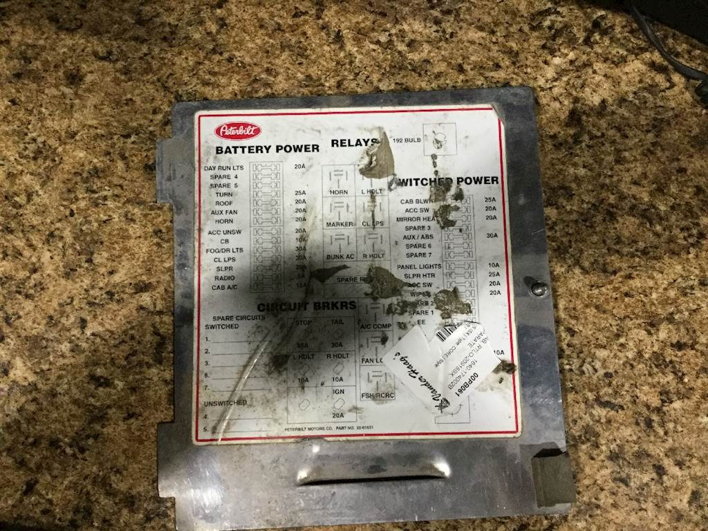 Diagram  1990 Peterbilt 379 Fuse Panel Full Version Hd Quality Fuse Panel